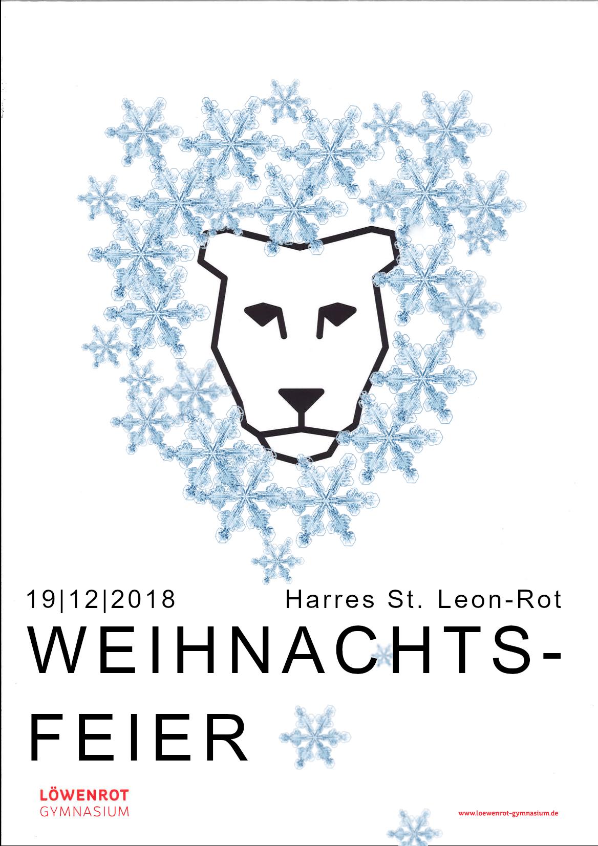 Plakat Weihnachstfeier Spickzettel