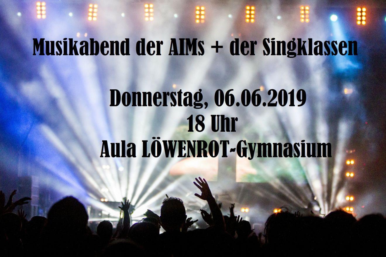 Musikabend der AiMs und der Singklassen