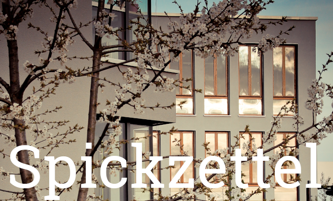 Spickzettel Header April
